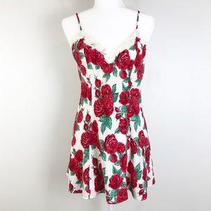 vintage Victoria secret rose slip dress 0742